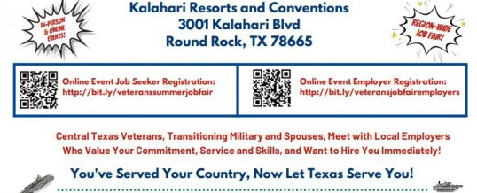 Veterans Summer Job Fair (Kalahari Resort)