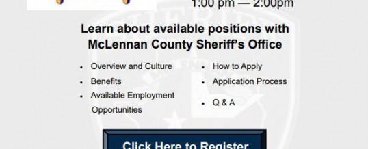 McLennan County Sheriff's Office Employer Showcase