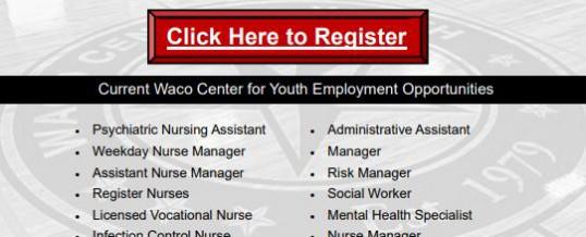Waco Center for Youth Virtual Employer Showcase