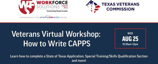 Veterans Virtual Workshop: CAPPS