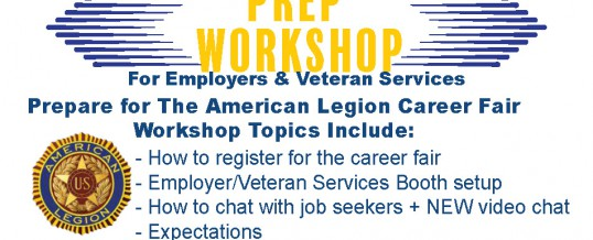 The American Legion Career Fair Prep Workshop For Employers