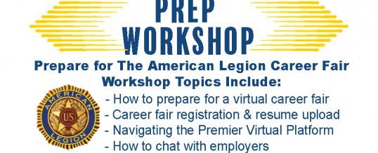 Job Seeker Prep Workshop For American Legion Career Fair