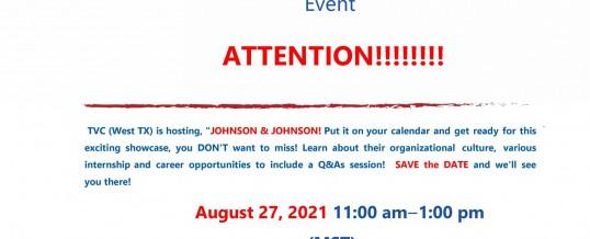 "TVC (West TX) Presents, "" The Johnson & Johnson Virtual Employer Showcase!"""