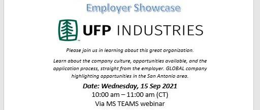 Employer Showcase UFP Industries